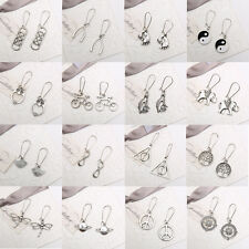 New Unique Genuine Handmade Tibetan Silver Drop Dangle Earrings Stud Jewelry