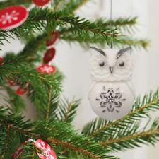 Lovely Li'l Owl With Snowflake 2017 Hallmark Mini Porcelain Ornament