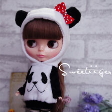 """【Tii】panda coat outfit 12"""" 1/6 doll Blythe/Pullip/azone Clothes Handmade girl"""
