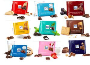 Ritter Sport 10 or 15 x 100g Bars Chocolate Selection BB 09/01/2021 OUT OF DATE