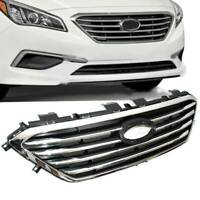 For Hyundai Sonata 2015 2016 2017 Front Bumper Upper Grill Chrome Black Grille