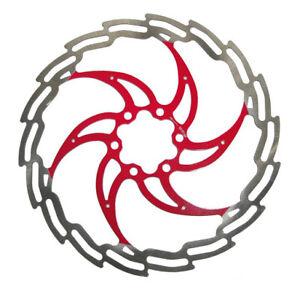 disco per freno idraulico mtb 180 mountain bike ciclismo bicicletta rosso 6 fori