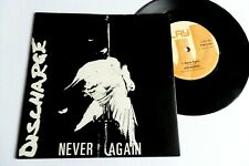 "DISCHARGE never again 7"" ORIG kbd uk80s punk collector limited"