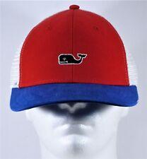 Vineyard Vines Whale High Profile Patriotic Trucker Snapback Golf Hat Cap NEW