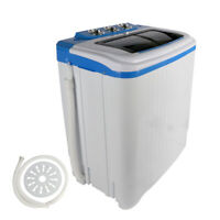 Laundry Washing Machine Semi Automatic Top Loading Portable Compact Washer Tub