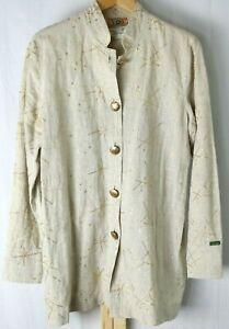 Women's Vintage Gene Ewing Bis Blazer Jacket Embroidered Gold Size Large