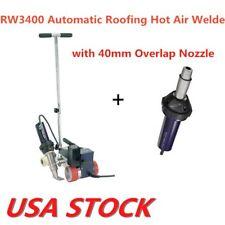 USA - RW3400 Hot Air Roofer Welder Machine 40mm Width + Hot Air Gun AC220V