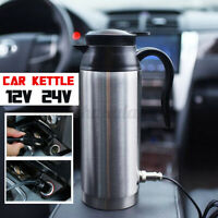 850ml Portable 12V/24V Car Water Kettle Heater Warmer Travel Camping Tea Coffee
