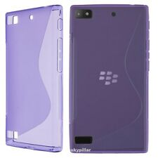 "5 "" DISPLAY Blackberry Leap TPU S slicone rubber Soft Case Cover + Protector"