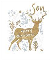 Son Gold Glitter Emma Grant Christmas Greeting Card Beautiful Xmas Cards