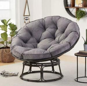 Better Homes & Gardens BH48-022-099-05 Papasan Chair with Fabric Cushion -...