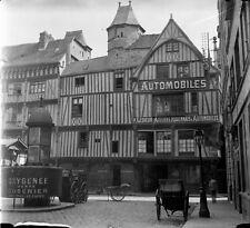 ROUEN c. 1900 - Ateliers Rouennais d'Automobiles Vespasienne - Négatif Verre