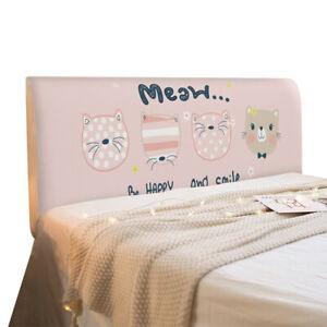 Elastic Headboard Slipcover Cartoon Print Bed Head Covers Bedside Dust Protector