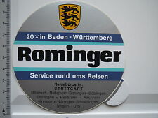 Aufkleber Sticker Alueffect - Rominger - Reisebüro - Stuttgart (5726)
