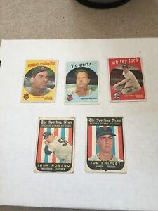 1959 Topps Baseball (Lot of 22, Whitey Ford)