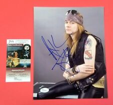 "GUNS N' ROSES AXL ROSE SIGNED 8"" X 10"" PHOTO CERTIFIED AUTHENTIC WITH JSA COA!"