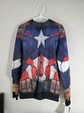 Captain America Zip Up Jacket Coats Costume Avengers Size L Kohl's