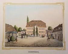 Lithografie Hohenfichte Ansicht Poenicke Schlösser & Rittergüter Sachsen um 1855