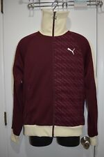 Puma Men's Fleece Track Jacket Port Royale Winter White New Nwt Med