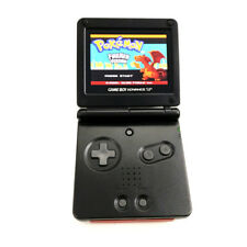 Black Game Boy Advance GBA SP Console w/ AGS 101 Brighter Backlit LCD Console