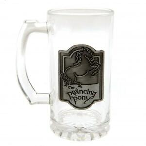 The Lord Of The Rings Glass Tankard Prancing Pony Official Licensed Product
