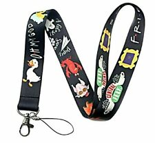 Friends TV Series Show Comedy Central Perk Lanyard Keychain ID Tag Holder Black