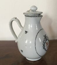 Antique Chinese Export Porcelain Cream Jug Pitcher Creamer Lid 18th 19th c. 1800