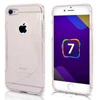 Apple iPhone 7 Cover Custodia Case Silicone S-Line TRASPARENTE + Pellicola