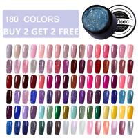 LEMOOC 180 Colors 5ml Nail UV Gel Polish Soak Off UV LED UV Gel Pure Color DIY