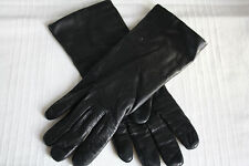 LADIES 100% LEATHER 100% CASHMERE LINED GLOVES SIZE M