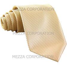 New Men's Formal stripes polyester Neck Tie necktie ivory party prom wedding