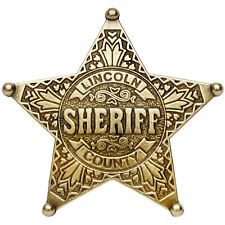 American Western Old West Lawman Lincoln County Sheriff Badge Billy The Kid