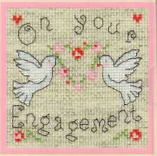 """Bothy Threads Cross Stitch Kit """"On Your Engagement"""""""