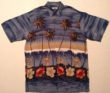 UBC Pin-up Bikini Girls Hawaiian Shirt Aloha Hawaii Beach Mens Button Up Size M