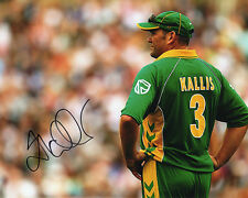 Jacques Kallis, South Africa cricket, signed 10x8 inch photo. COA. Proof.