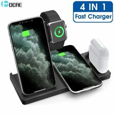DCAE 15W Qi Wireless Charger 4 in 1 Fast Charging Station for Apple Watch 6 5 4