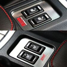Metal Car Seat Heating Buttons Cover STI TRD Emblem Sticker for FRS,BRZ, OUTBACK