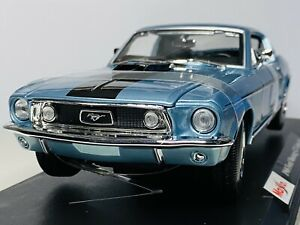 Maisto 1/18 Diecast Special Edition 1968 Ford Mustang GT Cobra Jet Blue (SALE)