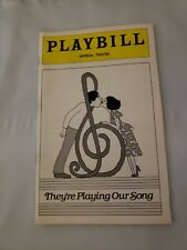 They're Playing Our Song Imperial Theatre Playbill 1979 Robert Klein Lucie Arnaz