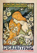 Repro Art Nouveau Style Advertising Print  'L'Ermitage' 1897