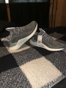 Adidas Alphaboost M Grey Silver Metallic White Mens Running Shoes Size 11 G54129
