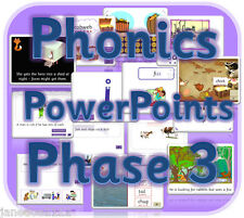 LETTERS AND SOUNDS PHASE 3 KS1 EYFS Powerpoints phonics teaching resources on CD