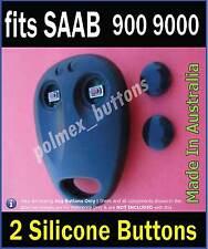 fits SAAB 900 9000 remote key fob - 2 Silicone key Buttons (1set)