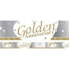 Creative Party Golden 50th Anniversary Banner 9ft M199