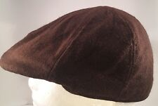 Pierre Cardin 6 Panel Brown Cabbie Scally Driving Cap Hat 7 1 4 Large 2761a708aca
