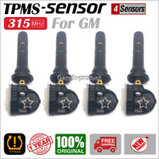 SET (4) NEW Tire Pressure Sensor TPMS GM 315MHz For GMC Buick Cadillac Chevrolet