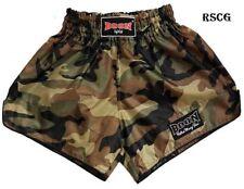 Boon Sport Boxing Shorts Military Green Camo Retro S M L Xl Xxl Muay Thai Mma K1
