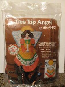 Tree Top Angel By BERNAT 1976 Cross-stitch