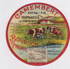 L444 FROMAGE CAMEMBERT BOURDON BARBERY BOIS HALBOUT CALVADOS