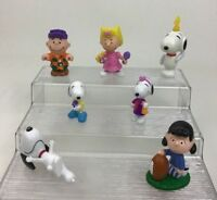 Peanuts Charlie Brown Snoopy Toys Figures 7pc Lot McDonalds Peanut's Movie A4